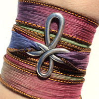 Bohemian Cross Silk Wrap Bracelet Yoga Colorful Jewelry Necklace Spiritual Unique Gift For Her Under 30 Item Y16
