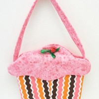 Cupcake Purse handmade cloth goodie bag gift bag party favor cup121
