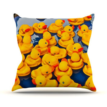 "Maynard Logan ""Duckies"" Throw Pillow"