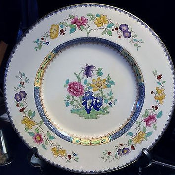 c1952 Rare Porcelain Spode Copelands China England Chinese Rose Dinner Plate