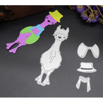 Alpaca Metal Steel cutting dies stencils for Christmas Decor blessing Greeting card DIY Scrapbooking Photo Album Craft