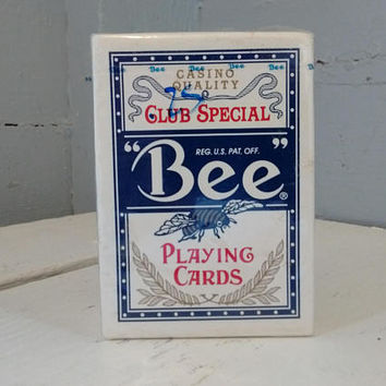 Vintage, Playing Cards, Bee, No. 92, Club Special, Casino Quality, Cambric Finish, Poker, Poker Cards, RhymeswithDaughter