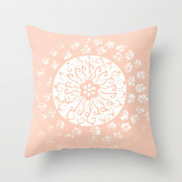 :: Summertime Peach :: Throw Pillow by GaleStorm Artworks