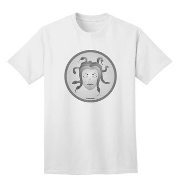 Medusa Head Coin - Greek Mythology Adult T-Shirt by TooLoud