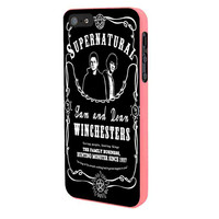 Supernatural The Winchester iPhone 5 Case Framed Pink