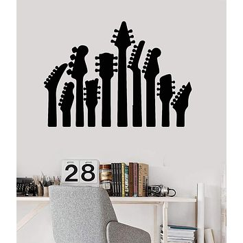 Vinyl Wall Decal Music Guitar Musical Instrument Rock Pop Stickers Unique Gift (ig3254)