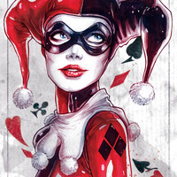 Harley Quinn NYCC 2014 Art Print by Fabvalle