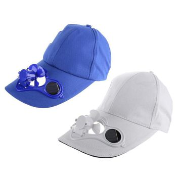 Solar Sun Power Hat Cap Cooling Cool Fan