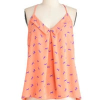Of Horse You Can! Top in Pink | Mod Retro Vintage Short Sleeve Shirts | ModCloth.com