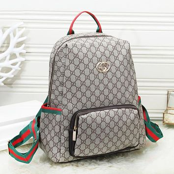 GUCCI Fashion New More Letter Print Women Men Travel Leisure Backpack Bag