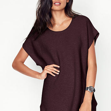 Ribbed Short-sleeve Tunic - A Kiss of Cashmere - Victoria's Secret