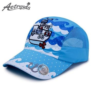 Trendy Winter Jacket [AETRENDS] 1~3 Year Old Children Large Sizes Summer Mesh Blue baseball Cap Kids Hat a Polo Cap Snapback Hats for Boy Girl Z-6513 AT_92_12
