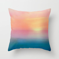 Ombre Sunset Throw Pillow by  Alexia Miles Photography