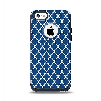 The Navy & White Seamless Morocan Pattern Apple iPhone 5c Otterbox Commuter Case Skin Set
