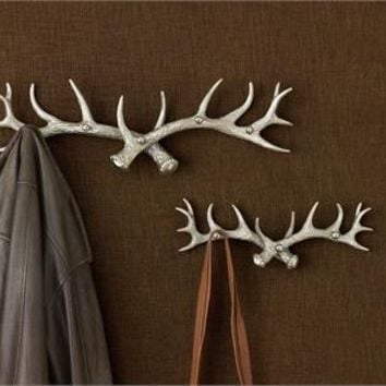 Silver Antler Five Arm Hook