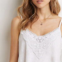 Crochet-Paneled Cami
