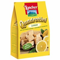Quadratini Large Lemon Wafer Cookies by Loacker 8.8 oz