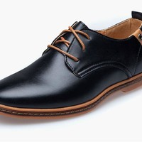 Oxford Leather Shoes Black or Brown