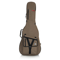 Gator Cases GT-ACOUSTIC-TAN Transit Series Acoustic Guitar Gig Bag with Exterior, Tan
