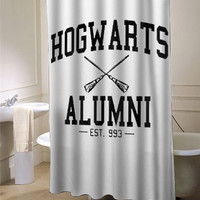 Hogwarts alumni harry potter shower curtain customized design for home decor