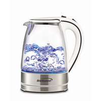 1.7L Tempered Glass Tea Kettle- White