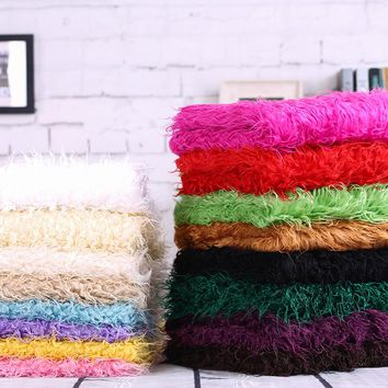turnip strip fur faux wool plush blanket fabric 0.5meter quality artificial leather cloth vest curly fur fabric