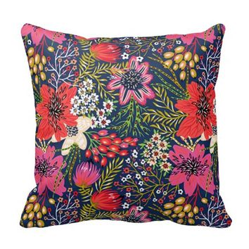 Colorful Vintage Bright Floral Pattern from Zazzle | Things I