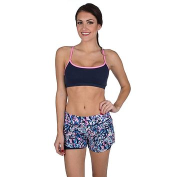 Front Runner Sport Shorts in Wisteria Print by Lauren James