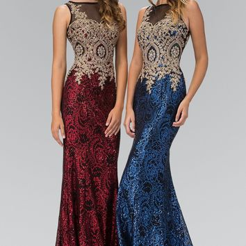 Sequin prom dress  gls 1319