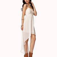 Chiffon & Lace High-Low Dress | FOREVER 21 - 2053916300
