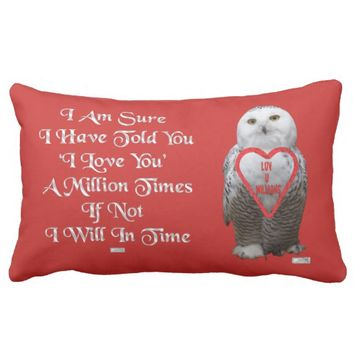 Million Just Because Love Greeting by Kat Worth Lumbar Pillow