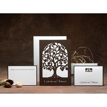 Wedding Invitations - Love Birds On Tree