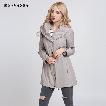 Women Coats New Fashion Trench Coats Shawl Collar Autumn Ladies Spring Classic Style Plus Size Outerwear