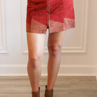 Suede Zip Skirt – Ivy Lane