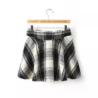 Winter Vintage Plaid Skirt [6047366017]