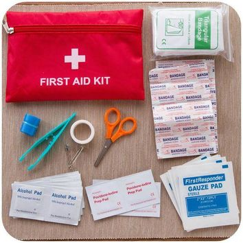 ONETOW 12 Kinds/pack Emergency Kits First Aid Kit Survival Hiking Camping Travel Medical Emergency Treatment Packs Set Nylon Pouch Bags
