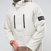 Nicce London Canvas Parka With Fleece Lining at asos.com