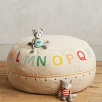Alphabet Pouf by Anthropologie in Neutral Motif Size: One Size Gifts