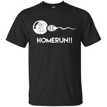 Homerun!! Funny Baseball Expectant Father Sports T-Shirt