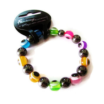 """magnet power"" Evil Eye with hematite stone bracelet"