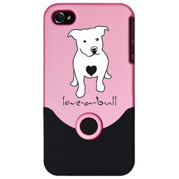 Love-a-Bull Pit Bull iPhone 4 Slider Case on CafePress.com
