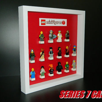 Case for lego minifigure series collection NUMBER 7 RED
