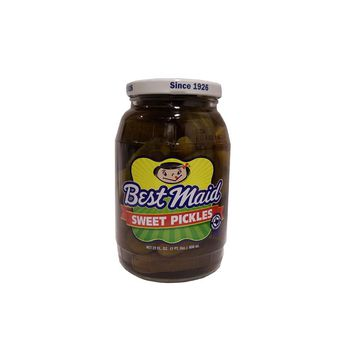 Best Maid Whole Sweet Pickles 22 oz Case of 12: Case of 6