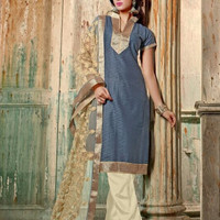 Chanderi Embroidered Suit 005