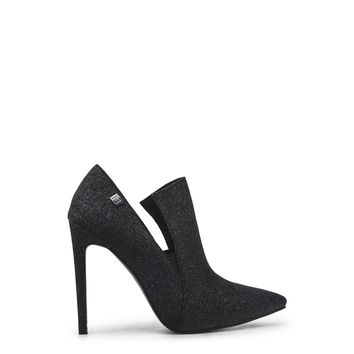 Dark Heather Grey/Black Heel Stiletto