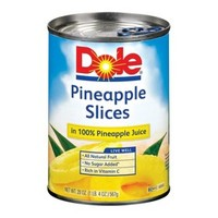 Dole Pineapple Slices in 100% Pineapple Juice 20oz