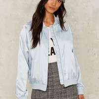 Shine On You Crazy Bomber Jacket - Blue