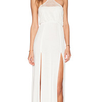 Bettinis Lace Maxi Dress in Ivory