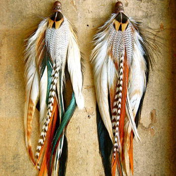 25% OFF the ENTIRE SHOP: Espresso Long Feather Earrings