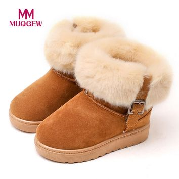 Kids Girls boots cotton Winter Warm Fashion Children Martin Girls Boys Casual Snow Boots winter shoes girls boots drop ship